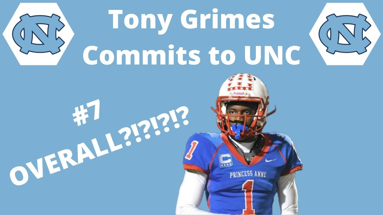 Tony Grimes Commits to UNC Tar Heels || Career Highlights Mixtape