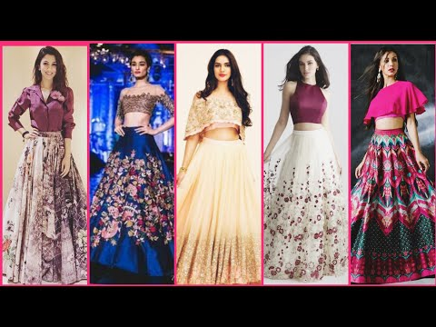 Latest And Exclusive Elegant Western Style Lahnga Blouse Maxi Skirts Blouse Design Party Wear Dress Youtube