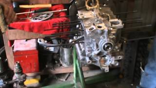 working on the 1600 installing oil pump and head studs