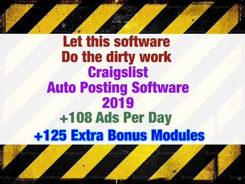 Craigslist Auto Posting Software 2017 - 108 Ads per day - autopostingtools.com