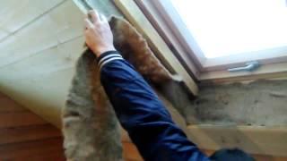 Отделка мансардного окна в деревянном доме
