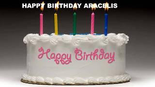 Aracelis - Cakes Pasteles - Happy Birthday Aracelis