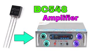 Make Amplifier with Transistor BC548 in Hindi !!!