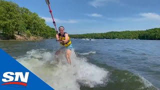 Stuck With The Tkachuks: Taking To The Lake For Some Wakesurfing