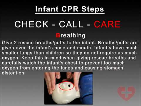 Infant CPR 2010 guidelines training video following New CAB method How to CPR Video