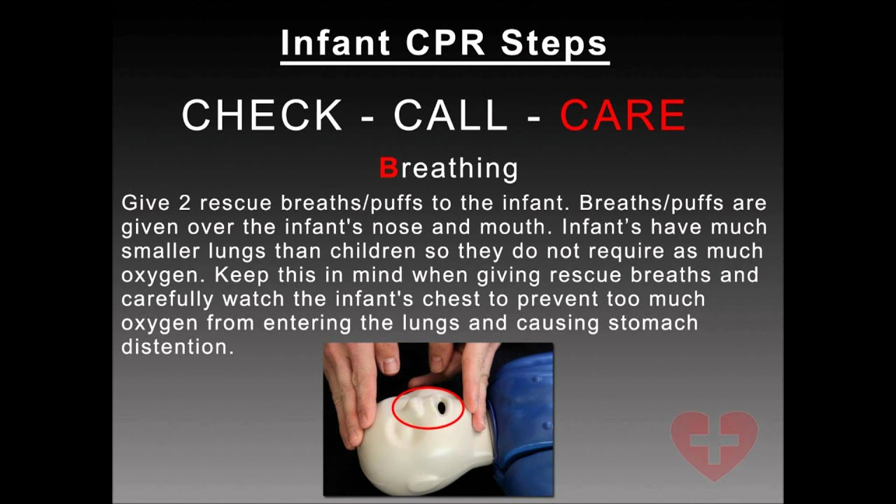 Infant Cpr 2010 Guidelines Training Video Following New Cab Method