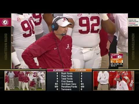 2017-18 Sugar Bowl (Alabama Radio Feed) - #4 Alabama vs. #1 Clemson (HD)