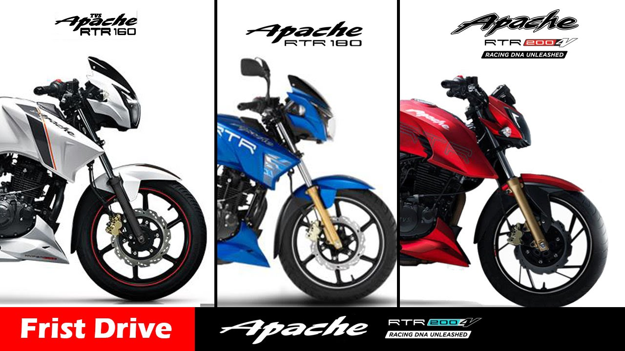 tvs apache rtr 160 vs rtr180 vs rtr 200 4v india compare first