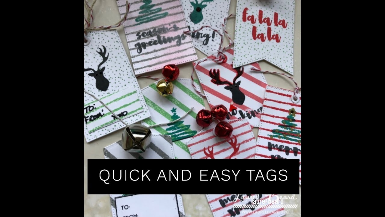 Day 3: Several Quick and Easy Gift Tags in under 15 minutes / 25 ...