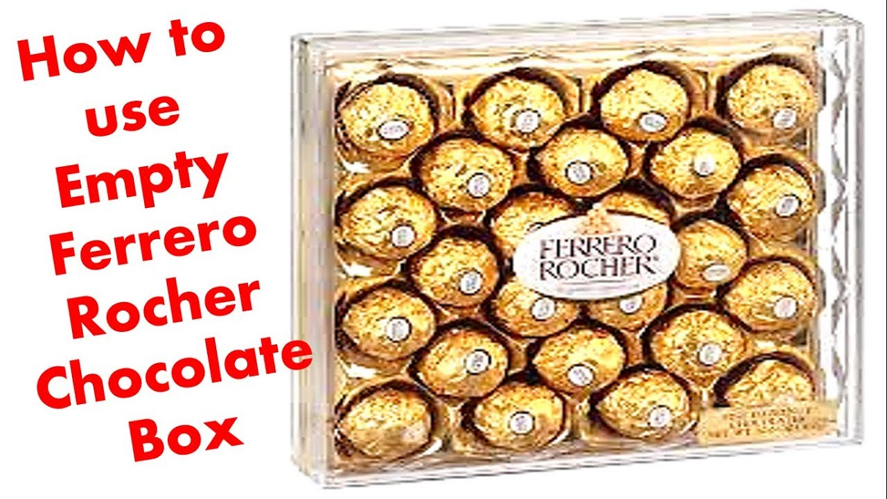 how to make organizer from empty ferrero rocher chocolate