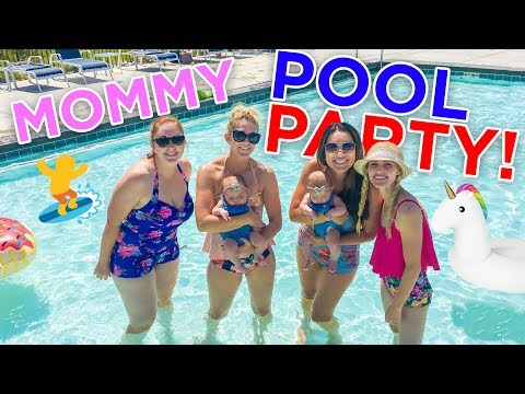 MOMMY POOL PARTY PLAY DATE!