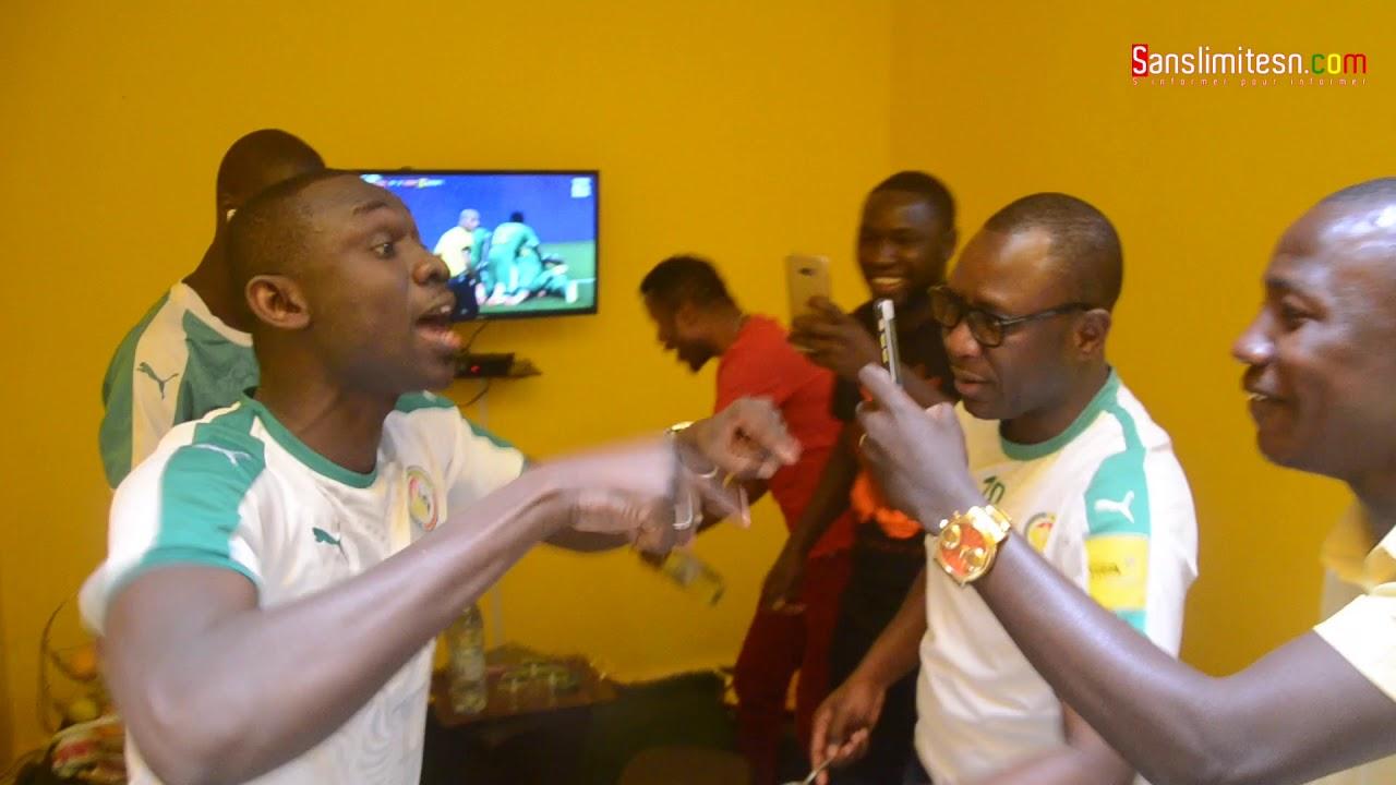 Comment Pape Diouf et sa femme Bébé Bass ont regardé le match Sénégal avec Fred, Ousmane Gangué