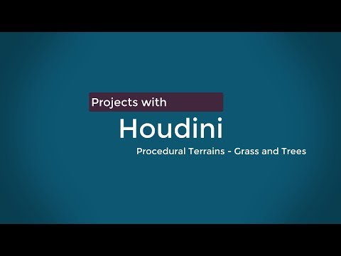 Houdini Projects - Procedural Terrain- trees and grass