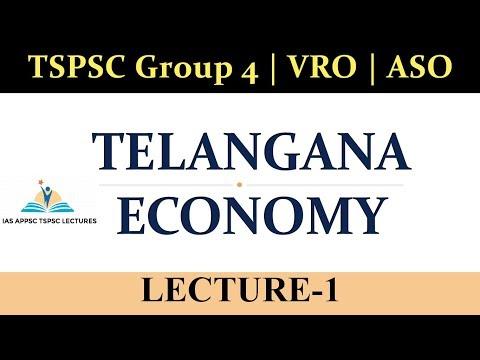 Telangana Economy : Lecture-1 | Telangana Socio Economic Outlook 2018 TSPSC Group 4 | VRO | ASO