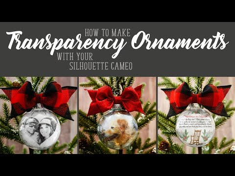 How to Make Transparency Ornaments with Cameo Print & Cut