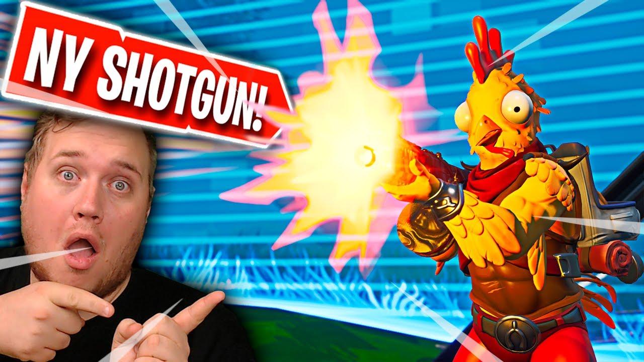 WINS MED VILDESTE GUN?! *NY SHOTGUN* :: Fortnite Dansk