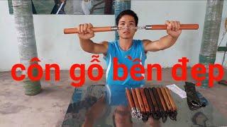 Côn nhị khúc gỗ bền đẹp_dụng cụ võ thuật;TOANKUNGFU.COM