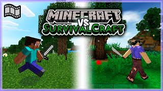 Curta metragem - Minecraft vs SurvivalCraft: A batalha