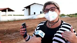 Alto Santo: Prefeita Iris Gadelha visita obra do Matadouro