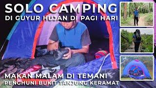 Solo Camping diguyur huĴan di Bukit Tanjung Keramat