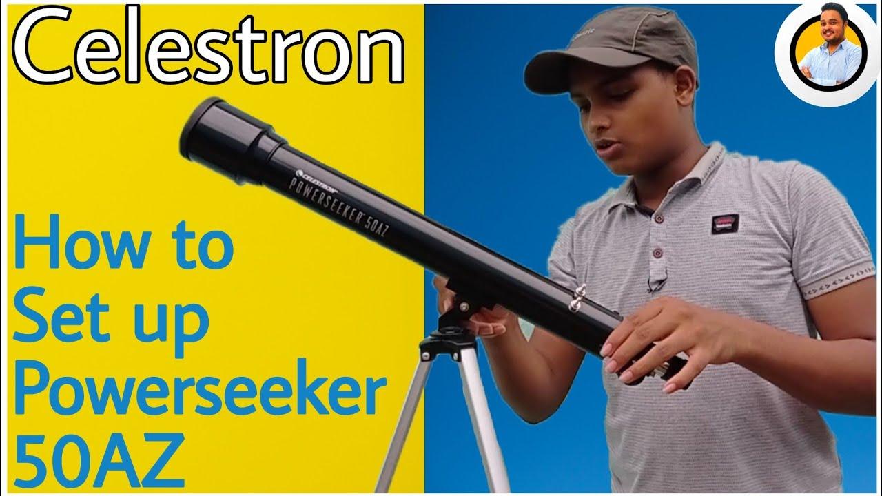 How to set up a telescope   Celestron Powerseeker 50AZ installation
