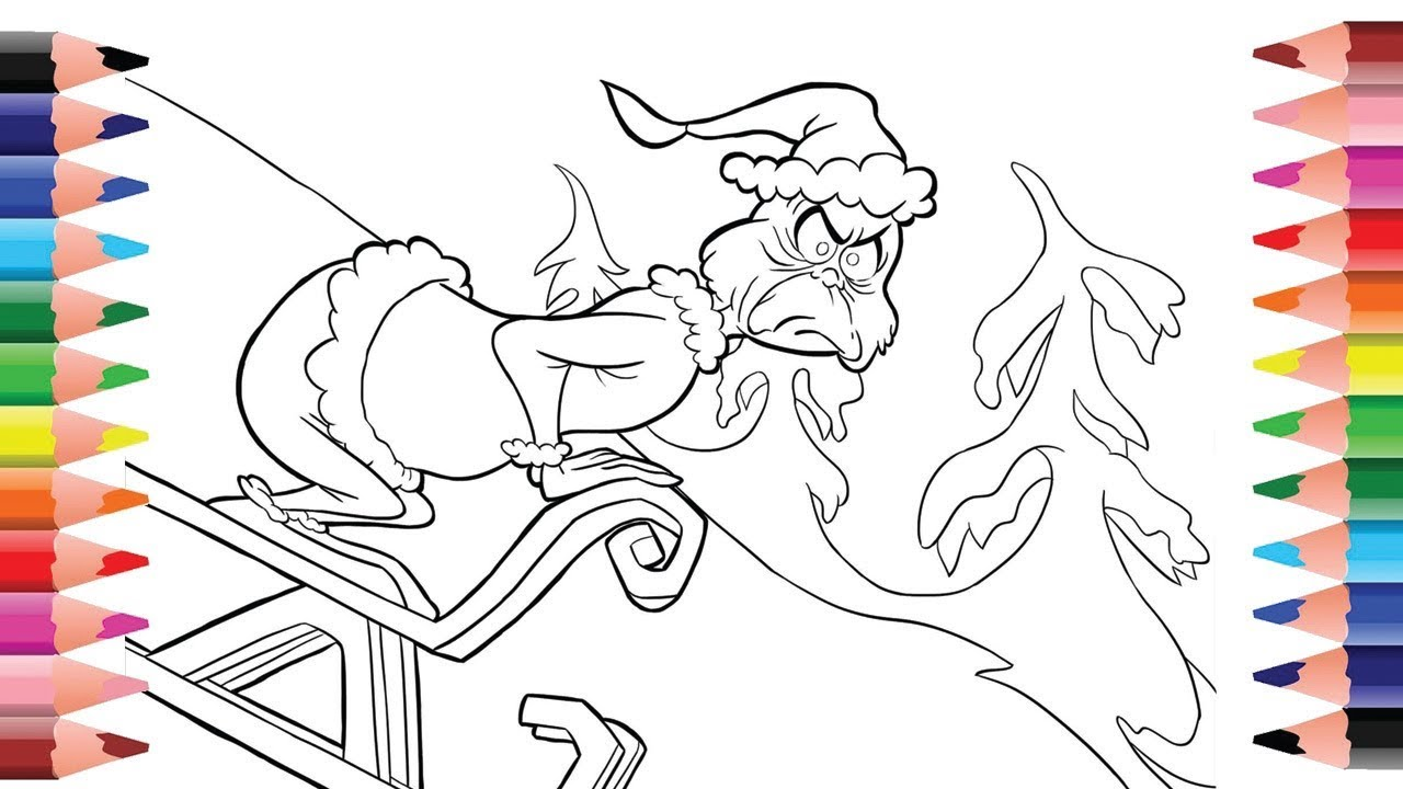 The Grinch Coloring Page - Coloring for kid and toddles ...