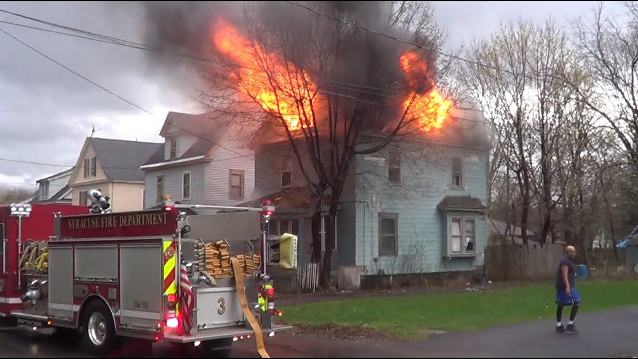 Syracuse Ny Working Structure Fire Raw Video Youtube