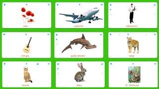 Карточки для детей - Цветы, Транспорт, Профессии, Музыка, Рыбы, Животные, Буквы - Карточки Домана