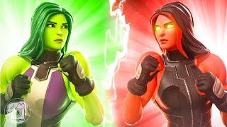 SHE-HULK vs. RED SHE-HULK! (Fortnite Family Feud)