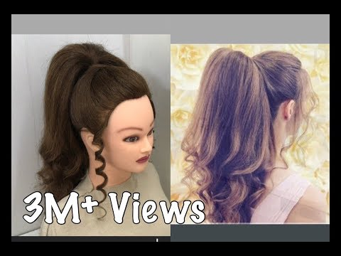 Beautiful Hairstyles with Long Ponytail Trick : Easy wedding Hairstyles