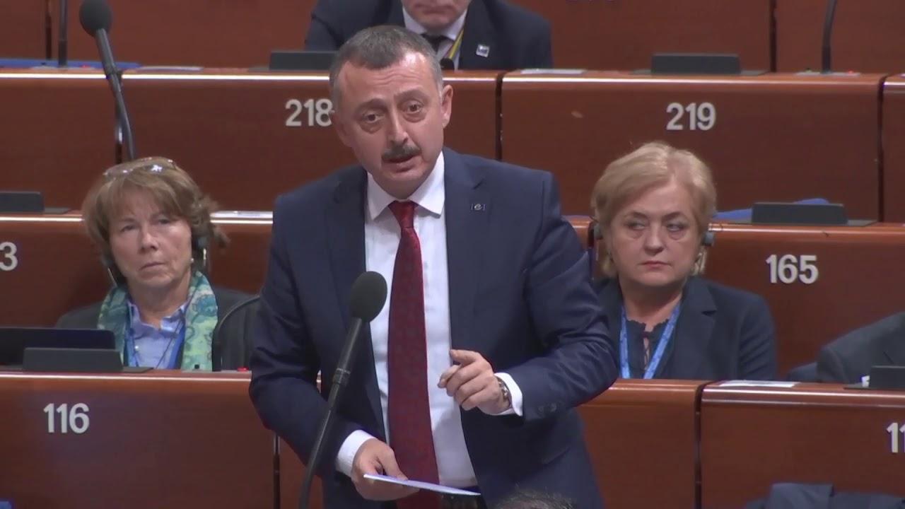 Başkan Tahir Büyükakın'ın Avrupa Konseyi Konuşması