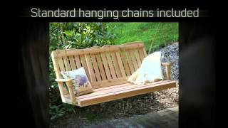 Creekvine Designs Countryside Red Cedar Porch Swing