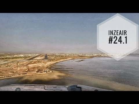IZA#24.1 - LANDING & TAKE-OFF AT DJIBOUTI IN AN A340 COCKPIT