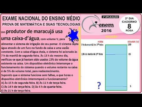 Enem: CURSO MATEMÁTICA ENEM 2016 QUESTÃO 150 PROVA ROSA RESOLVIDA EXAME NACIONAL ENSINO MÉDIO 2ª Aplicação (ProUni)