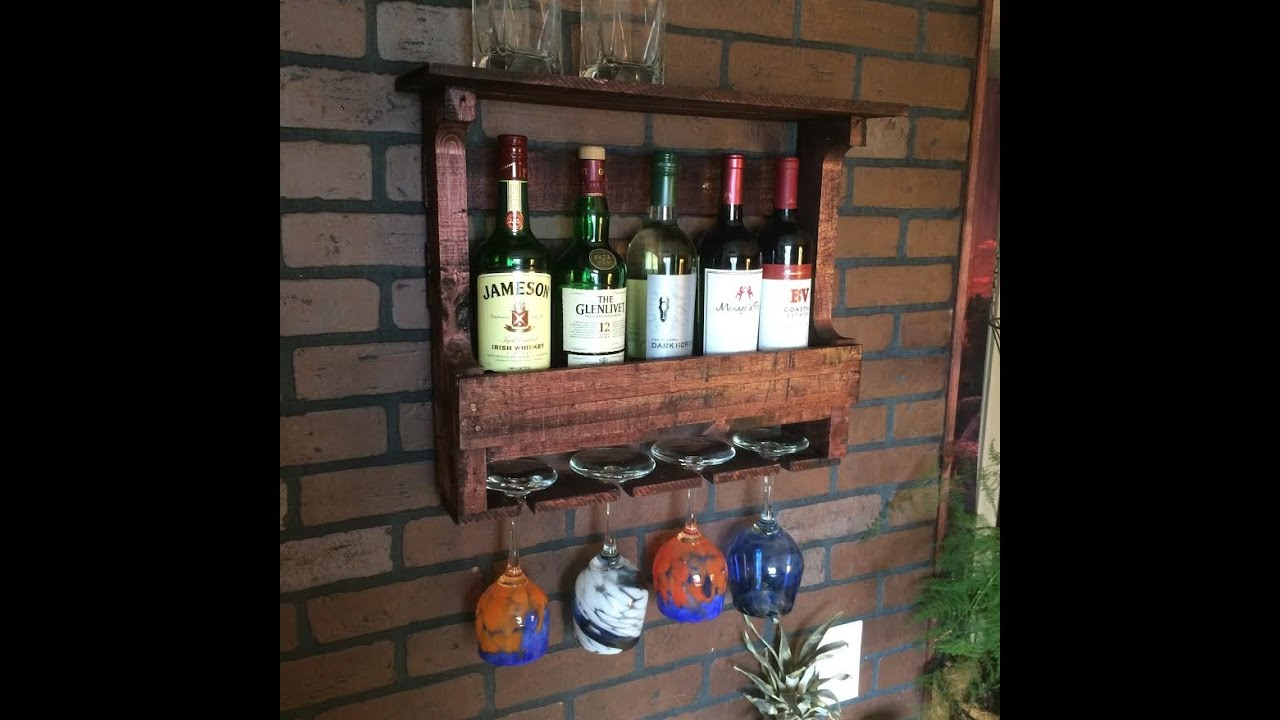 How to make a pallet wine bar youtube for How to build a wine bar