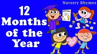 12 Months Make One Year Song - Preschool Song | Animated Rhyme For Kids | Kids Learning Videos
