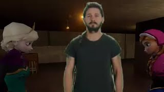 Shia LaBeouf frozen motivational speaker for doctor doom elsa date hell.