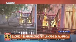 Saquean supermercado de Avenida Grecia en Peñalolén