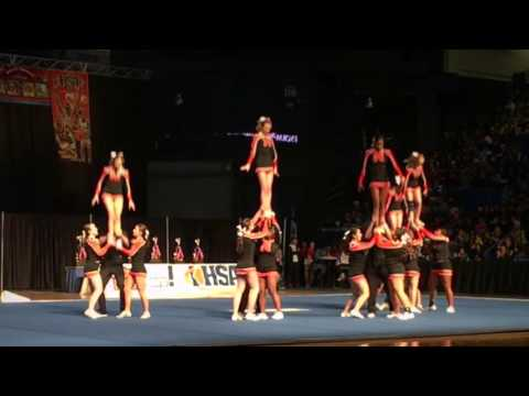 Normal Community High School performs at IHSA State Cheer Competition