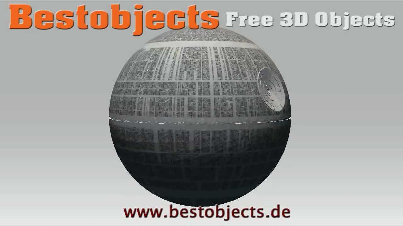 Star Wars Death Star Free 3d Objects Youtube