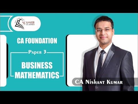 Quadratic Equations - Lecture 1 (CA Foundation) By CA Nishant Kumar