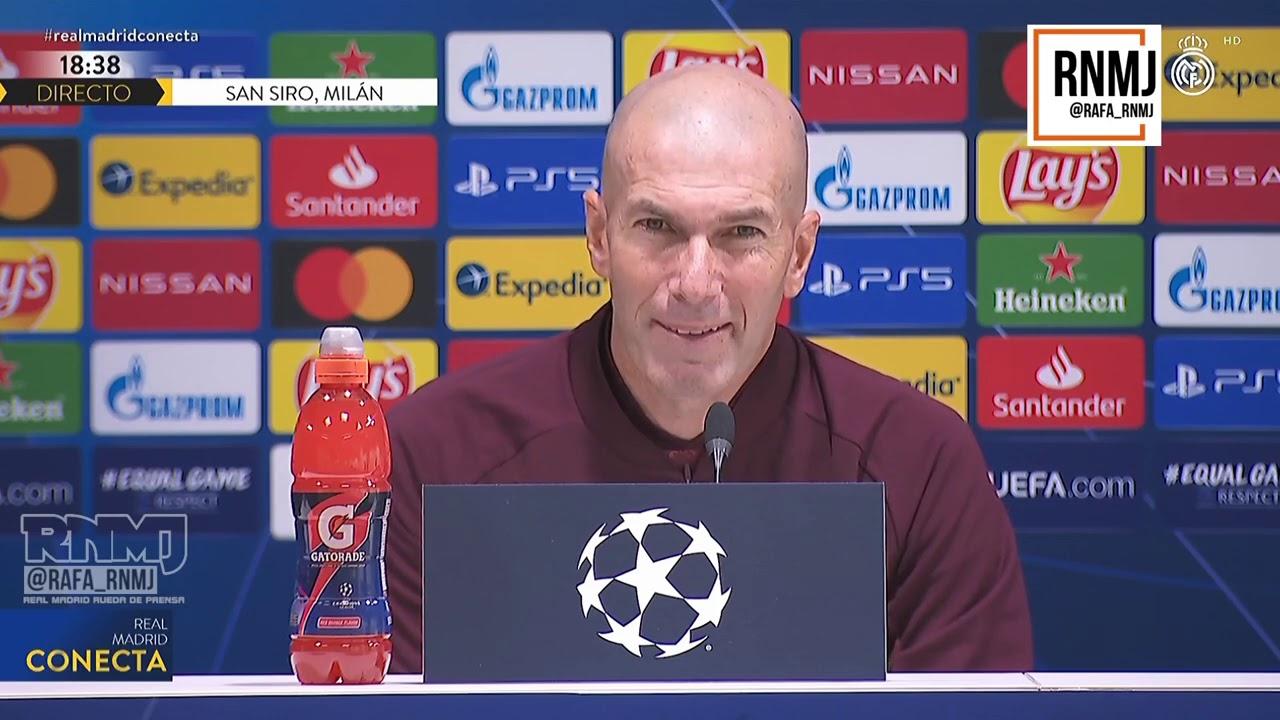Rueda de prensa previa de ZIDANE Inter de Milan - Real Madrid CF (24/11/2020)