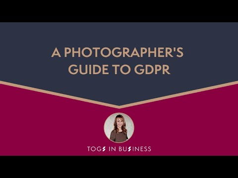 What GDPR means for Photographers - The Lowdown!