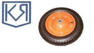 Колесо для тачки строительной, литое.(В оси колеса для тачки садовой установлен двухрядный стальной шариковый подшипник. Диск покрыт сверху..., 2013-10-31T07:01:31.000Z)