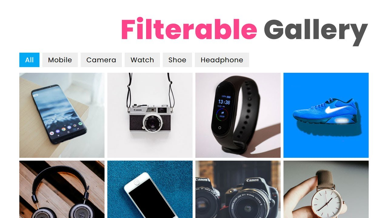 How To Create a Portfolio Filter Gallery using HTML CSS & jQuery