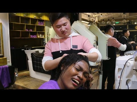 Black Girl Gets hair done IN CHINA (FAIL!)