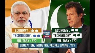 BHARAT vs PAKISTAN Comparison 2019 in HINDI || Economy, Military, Industry & Many More