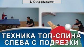 7 ОТЛИЧИЙ ТОП-СПИНА СЛЕВА С ПОДРЕЗКИ (Техника топ-спина слева с подрезки)