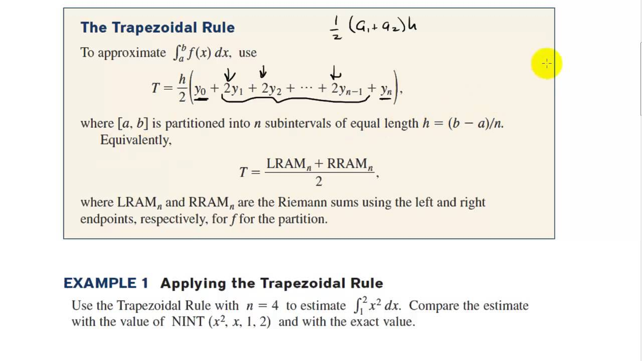 Presentation on numerical method (trapezoidal method).