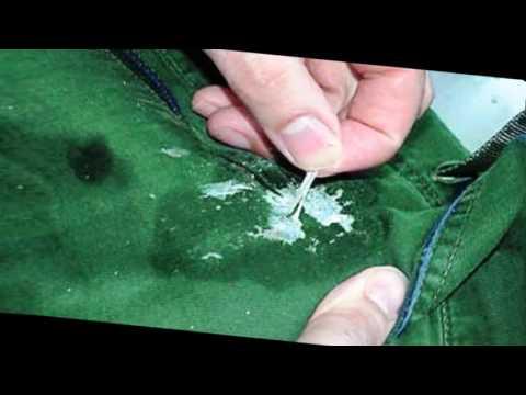 Как убрать жвачку с одежды